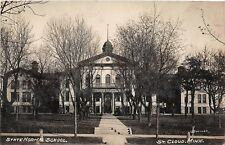 D34/ St Cloud Minnesota Mn Real Photo RPPC Postcard 1910 State Normal School 1