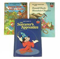 Lot of 3 VTG Disney's Wonderful World Of Reading Books 1973-1986