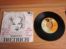 """Marlene Dietrich - Für Alles Kommt Die - Bitte Geh Nicht - Single - 7"""" - 1215"""
