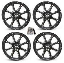 "STI HD4 UTV Wheels/Rims Black 14"" Polaris RZR 1000 XP (4)"