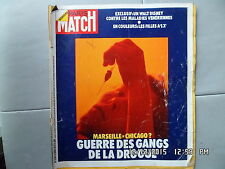 PARIS MATCH N°1249 04/73 MARSEILLE GANGS DROGUE BOXE MOHAMED ALI WALT DISNEY I93