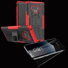 Hybrid Case Tasche 2teilig Rot für Samsung Galaxy Note 9 N960 + 4D Glas Schwarz