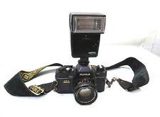 Vintage Konica FP-1 Camera W/ Hexanon AR 50MM Lens & Amity Flash-Very Nice