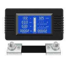 DC Multimeter Battery Monitor 200V 10A100A300A Current Voltage Solar Power Meter