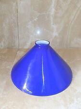 Vetro ricambio Lampada ministeriale americana england opaline blu diametro 26 cm