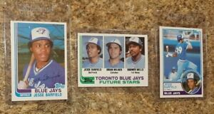 (3) Jesse Barfield 1982 Topps Traded Rookie Card Lot Blue Jays RC 1983