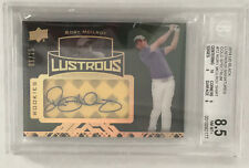 2014 UD Exquisite Golf Rory McIlroy BGS 8.5 BLACK LUSTROUS Gold Auto /25