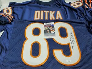 MIKE DITKA SIGNED Autographed CHICAGO Bears Jersey With JSA COA