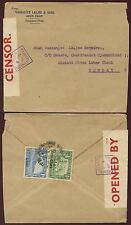 ADEN 1940 CENSOR No.8 to INDIA...VASSANJEE LALJEE ENVELOPE ADEN CAMP