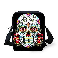 Women's Skull Zombie Shoulder Bag Cross Body Purse Satchel Messenger Handbag