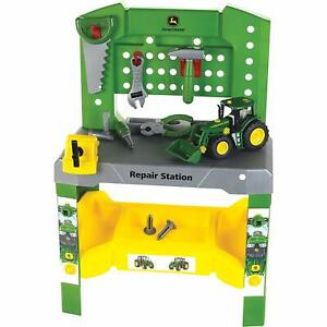 NEW John Deere Repair Station with Tools and Tractor Included, Ages 3+ LP66712
