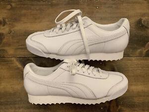 Puma Roma Triple White Athletic Shoes Size 6 Men's Brand New