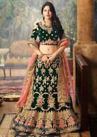 Tradicional Fiesta de Disfraces Diseñador Lehenga Boda India Ropa Lengha Choli