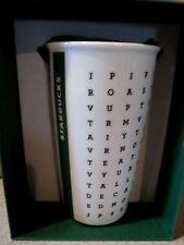 NEW STARBUCKS 12 OZ CERAMIC COFFEE MUG WORD SEARCH NEW  Original