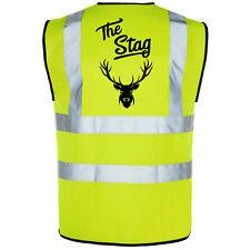Stag Do Printed Hi-Vis High-Viz Funny Party Visibility Safety Vest/Waistcoat