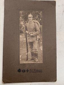 Super ww1 German photograph of infantryman in full field dress  pre 1915