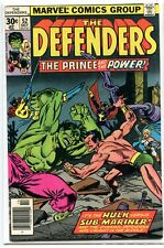 Defenders 52 Vf/Nm Gil Kane Sub Mariner (1972) Hulk Marvel comics *Cbx6B