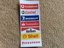 Slotcar -Scalextric trackside decals 7x Decals Mixed F1 Le Mans 1:32 scale