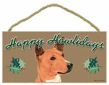 Basenji Happy Howlidays Santa Wood Funny Christmas Dog Sign Plaque Usa Made