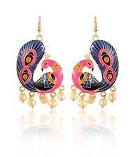 Handmade Dangle Drop Earrings Indian Traditional Women's Fashion Peacock
