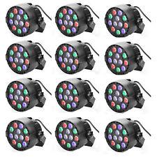 12 Pack Sound Activated RGBW Par Up Lighting Slim Par LED Light DMX 8CH DJ
