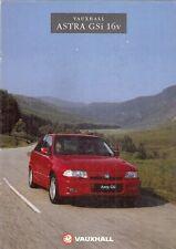 Vauxhall Astra 2.0 GSi 16v Mk3 1991-92 UK Market Sales Brochure