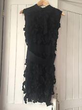 Lanvin X H&M Black Ribbon Cocktail Dress UK10