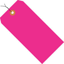 Pink Shipping Tags 2 34 X 1 38 Pre Wired 13 Pt 1000case