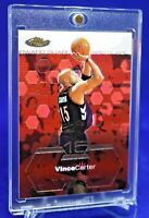 VINCE CARTER TOPPS FINEST CHROME RED BACKGROUND SP RARE  TORONTO RAPTORS