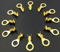 10X CONNETTORE OCCHIELLO  cavo elettrico da 0.3 1.5mm2 foro 4,2 terminale FASTON