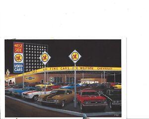 """David Snyder Car Art -- """"West Side Chevrolet"""" AP 49 of  95 - Large Collection"""