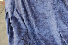 MIDNIGHT BLUE/BLUE/DARK VIOLET TEXTURED VELVET UPHOLSTERY fabric. Pack 392
