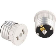 (2 PACK)  WHITE LIGHT SOCKET OUTLET ADAPTER 2 WIRE CHRISTMAS LIGHTS