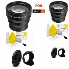 62MM 3.5X TELEPHOTO ZOOM LENS + LENS HOOD + LENS CAP + GIFT  FOR SONY ALPHA RX10