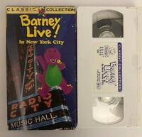 Barney - Live In New York City (VHS, 1994, Classic Collection)