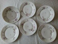 6 assiettes plates  Porcelaine de Limoges  Fin XIXème