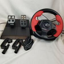 Logitech Wingman Formula Force GP Racing Steering Wheel PC Controller w/ Pedals