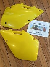 Suzuki YELLOW Side Panels Number Plate SET RM125 RM250 RM 125 250 1996 1997 NEW!