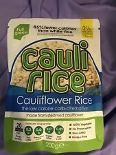 Cauli Rice Made From Steamed Cauliflower Low Carb & Cal Gluten Free