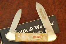 SMITH & WESSON TEXAS HOLD'EM CRACKED ICE CANOE KNIFE NICE HAMMER FORGED (2372.3)