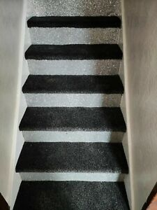 """Self Adhesive 6""""  Silver Glitter Stair Decals"""