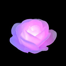 LED FLAMELESS FLOATING FLOWER CANDLE COLOR CHANGING HOME PARTY DECOR ALLURING
