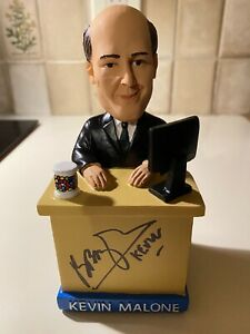 Signed Kevin Malone Bobblehead The Office Ironpigs NEW In Box Special Ticket