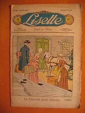 LISETTE N° 25 du 19/06/1938 -18 ème année -éditions de Montsouris