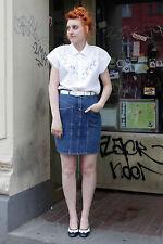 Baun´s Jeans Rock skirt denim dunkelblau darkblue 80er True Vintage 80´s Fashion