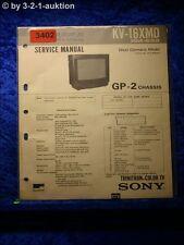 Sony Service Manual KV 16XMD Color TV (#3402)