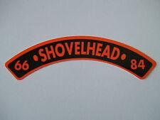 "HELMET STICKER  ""66 - SHOVELHEAD - 84""  Rocker,  Single sticker,   #F16A"