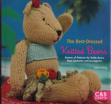 THE BEST DRESSED KNITTED BEARS NEW! KNITTING BOOK TEDDY CRAFT TOYS PIRATE WIZARD