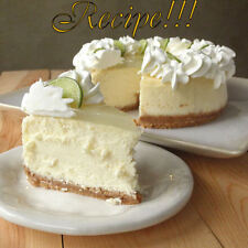 "☆Key Lime Cheesecake☆Silky, Citrus-Kissed Dessert ""RECIPE""!☆Glazed Top!☆Smooth!☆"