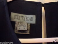 size 8 LBD COUNTRY ROAD little black dress with zip